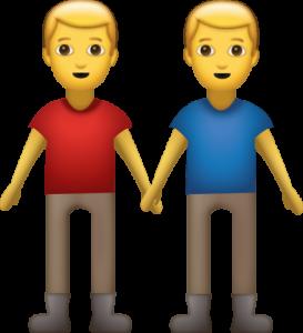iki erkek emojisi