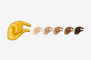 çeşitli ırk el emojisi