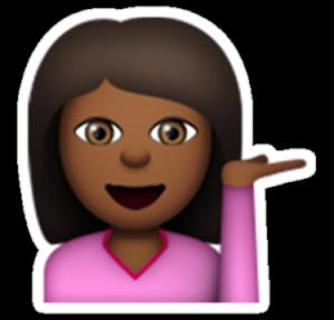 siyah emoji